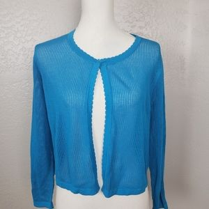 Talbots Open Front Knit Cardigan Large NWT